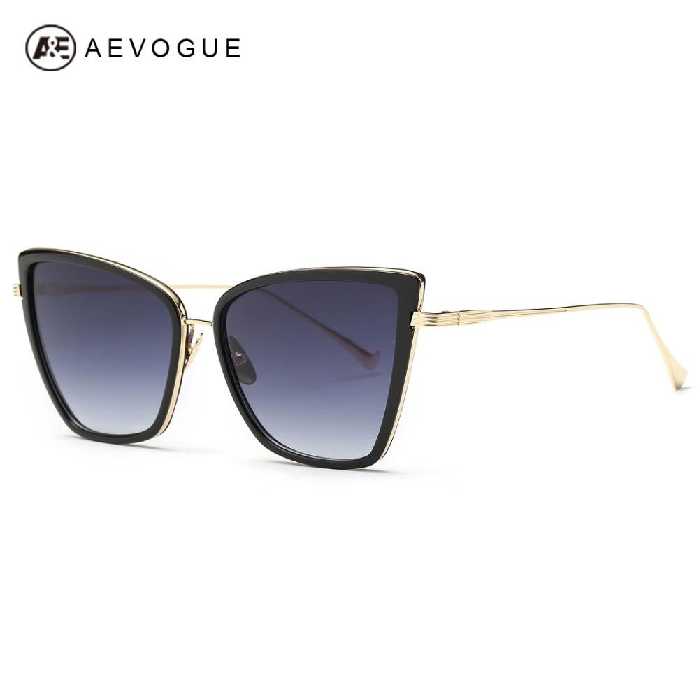 Kacamata AEVOGUE Wanita Sunbird Terbaru Kualitas Tinggi Cat Eye Logam  Bingkai Kacamata Matahari Merek Desainer UV400 AE0363 85e8168fba