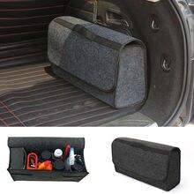 Органайзер для багажника автомобиля, складная сумка для хранения, коробка для груза, переносная Серая шерстяная фетровая ткань, карман для хранения, сумка, держатель, аксессуары