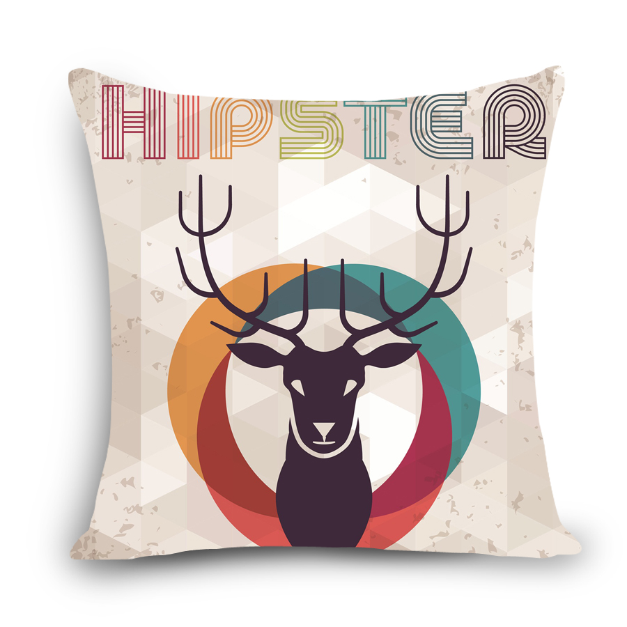 Let me take you for away, animal deer printed dining chair cushion cover car seat cushion covers Home decorative pillow for sofa