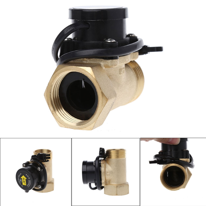 HT-800 1 Inch Flow Sensor Water Pump Flow Switch Easy To Connect L15 johnson f61kb 11c stainless steel target type flow switch flow switch flow controller 1 inch outside the wire