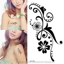 Body Art Wterproof Temporary Tattoos For Men And Women Simple 3D Flower Design Small Tattoo Sticker HC1149