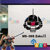 Japanese Cartoon Fans SEED ZAKU II GUNDAM Vinyl Wall Stickers Decal Decor Home Decorative