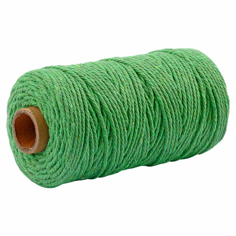 3.5MM x 100M Braided Handmade Craft Art DIY Cotton Rope Macrame String Cotton Cord For Wall Hanging Dream Catcher 0507#