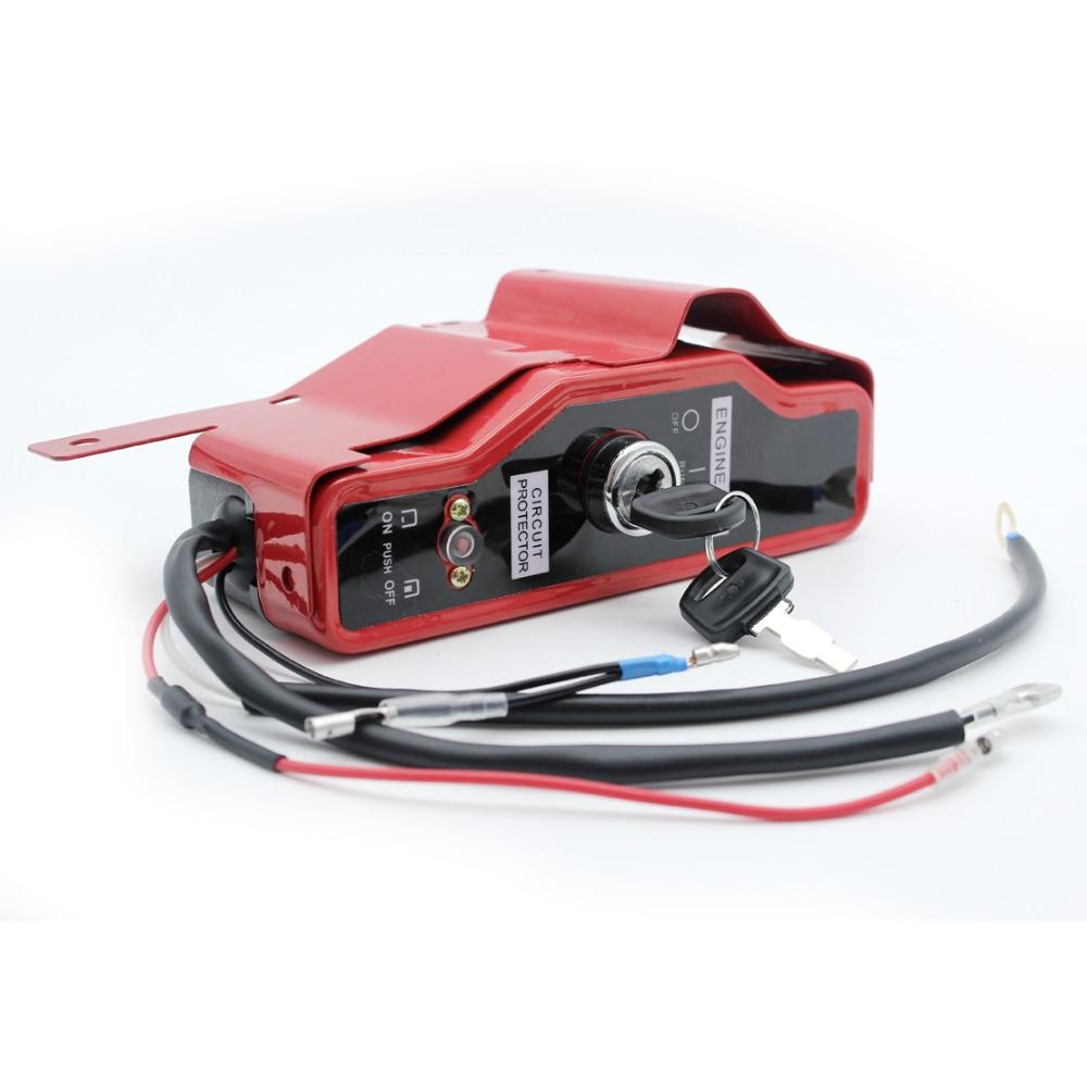 Key Ignition Switch Box W/ Keys For Honda GX340 GX390 GX 340 390 11HP 13HP Gas Engine Motor Generator Pump
