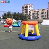 OCYLE Free Shipping Floating water toys inflatable basketball goal games,2m height inflatable water basketball hoop for pool