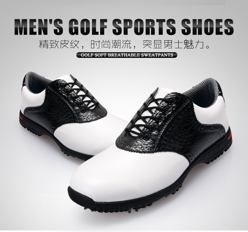 Brand PGM Genuine Leather Mens Tour 360 Boa Boost Waterproof Golf Sports Shoes Spiked Sneakers Pro Tour Steady&Waterproof XZ045 pgm golf clothing bag waterproof genuine leather top quality golf shoes bag high capacity double layer sports bag handbag