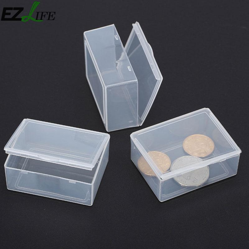Mini Storage Box Portable Jewelry Organizer Plastic Box Name Card