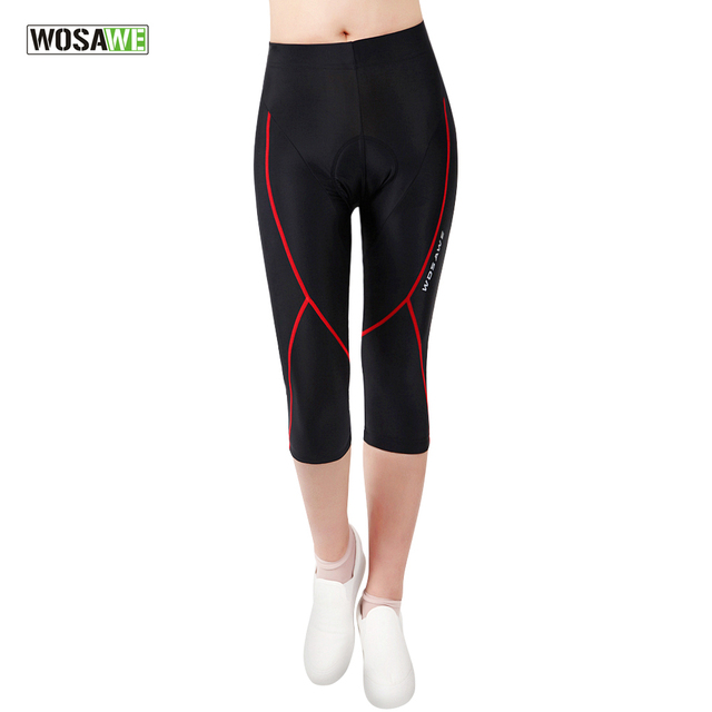 393c5d0a495 WOSAWE Womens Ladies Cycling Pants Breathable Gel Padded 3 4 Shorts MTB Road  Bike Clothing