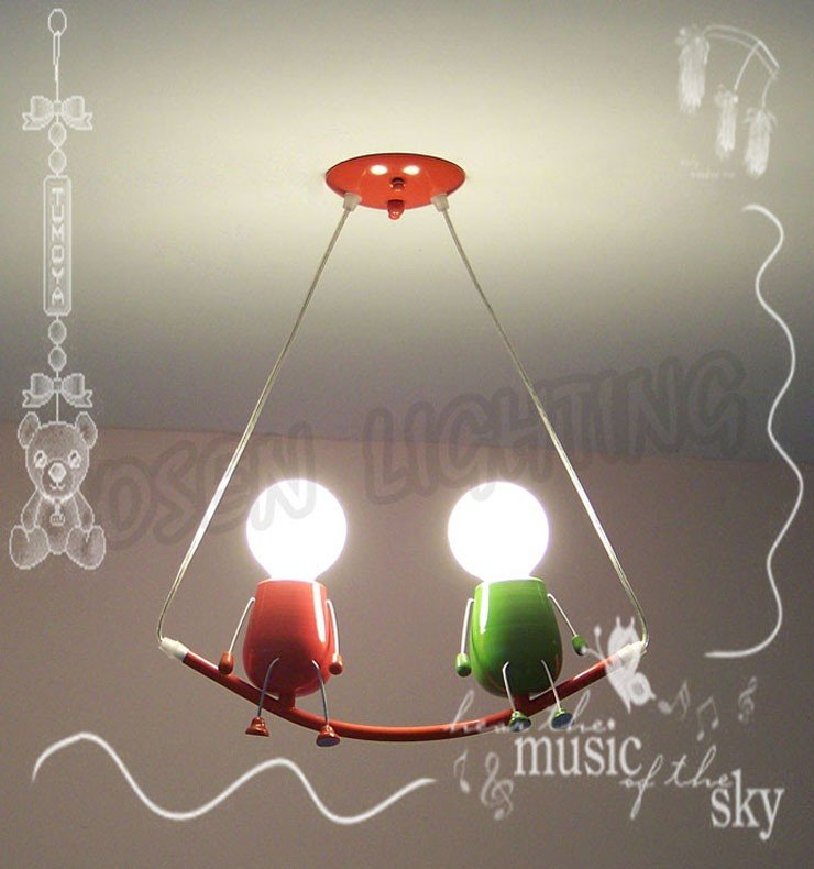 Children Bedroom Ceiling Pendant Lamp/two Partners Color