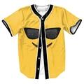 Emoji gafas de Sol Jersey con botones camisetas 3d amarillo tops Hip Hop camisetas divertidas de Los Hombres trajes casuales