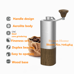 Image 4 - 1 PC Timemore G1 MYY47 Aerolite portable steel grinding core High quality handle design super manual coffee mill Dulex bearing