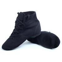 Black Canvas Jazz Boot For Dance Men Woman S Canvas Jazz Dance Shoes Lace Up Boots