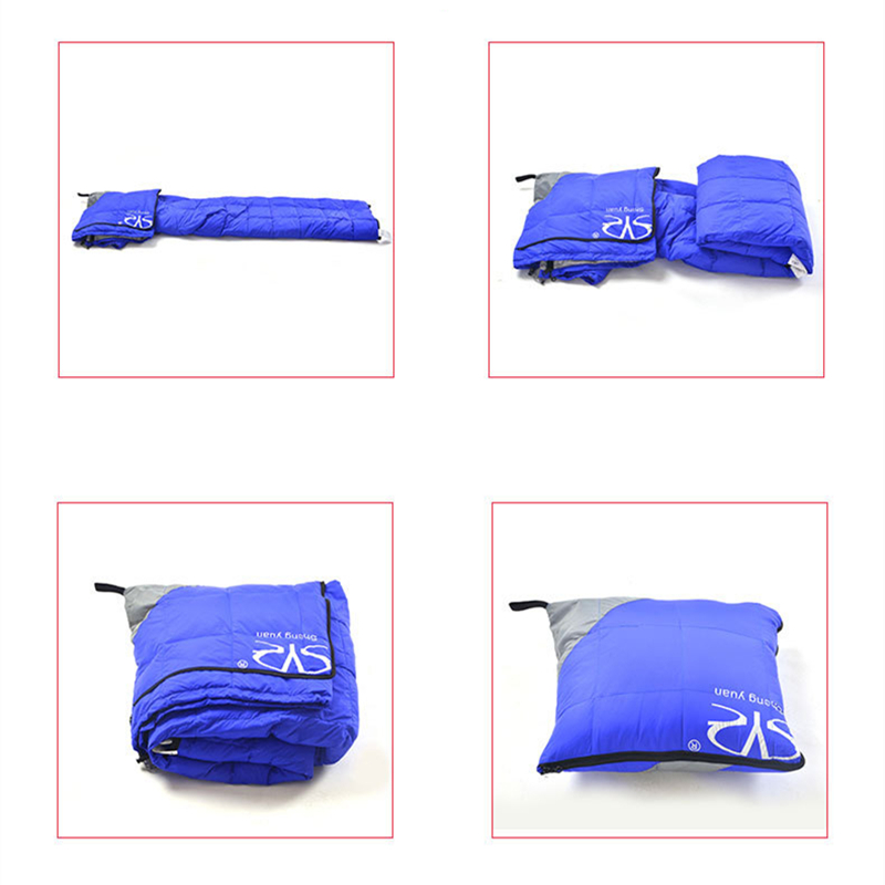 Image 4 - VILEAD 2 Colors Duck down Sleeping Bag as Pillow Lightweight Camping Stuff Hiking Sleeping Winter Ultralight Adult Camp Quilt-in Sleeping Bags from Sports & Entertainment