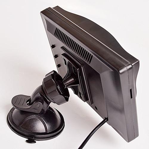 """Hippcron 5 дюймов Автомобильный монитор TFT ЖК-дисплей """" HD цифровой 16:9 800*480 Экран 2 Way видео Вход для заднего вида Камера DVD/VCD/ - Цвет: Sucker bracket"""