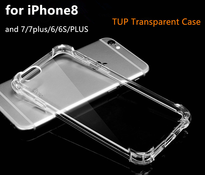 Original Ultrathin Clear Transparent TPU Silicone Soft Cover Case For iPhone 8 6 7 Plus X