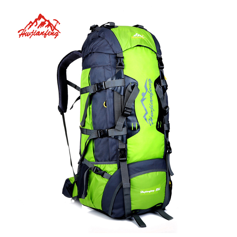 80L Outdoor Climbing Backpacks Waterproof Nylon Travel Sport camping Mountaineering Bag Travel Rucksack Bag Hiking Backpack
