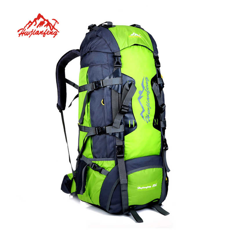 80L Outdoor Climbing Backpacks Waterproof Nylon Travel Sport camping  Mountaineering Bag Travel Rucksack Bag Hiking Backpack 916d79fd5dc40