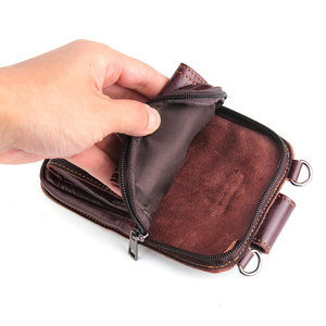 Image 4 - حقيبة خصر من الجلد الأصلي لهواتف آيفون/وسامسونج/سوني/إل جي حقيبة كتف ذكية مزودة بحزام لحمل الهواتف المحمولة دون 6.5 بوصة