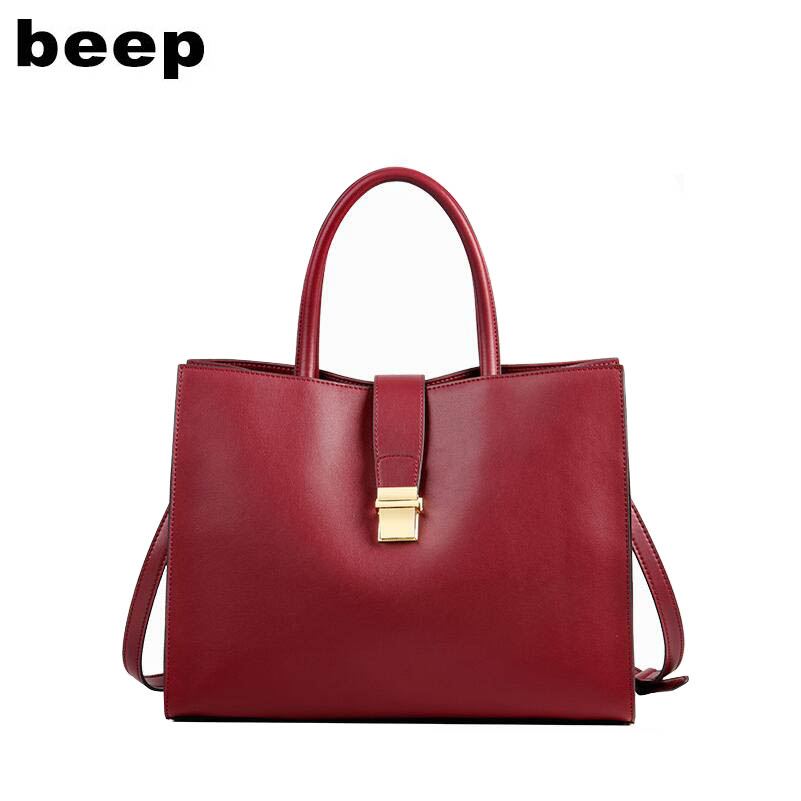 BEEP luxury fashion 2019 new large-capacity handbag atmospheric Messenger bag leather ladies bag shoulder bag big bagBEEP luxury fashion 2019 new large-capacity handbag atmospheric Messenger bag leather ladies bag shoulder bag big bag