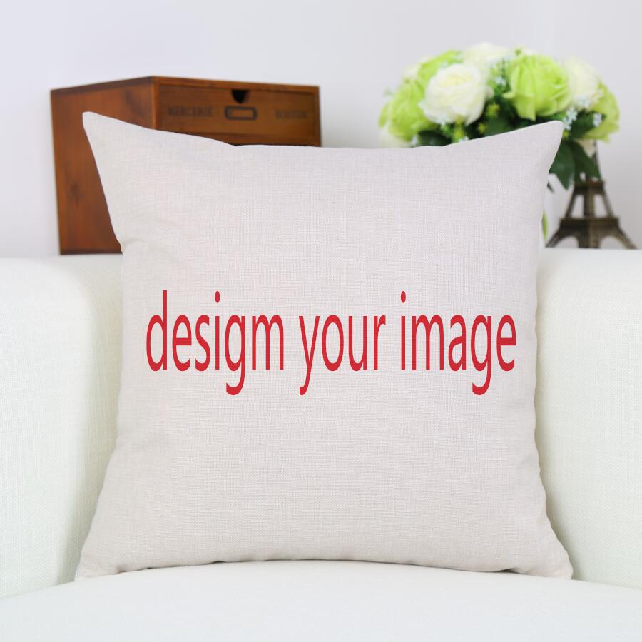 Cushion Cover Personalised Cotton Linen Custom Printed Pillow Case Home Decoration For Car Sofa Waist Pillowcase Gift Wholesale