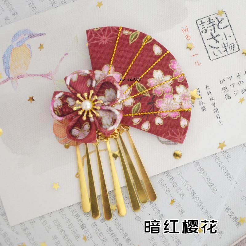1pc Japanese Hairpin Hair Clip Tassel Tsumami zaiku Hanfu Kimono Yukata Geisha