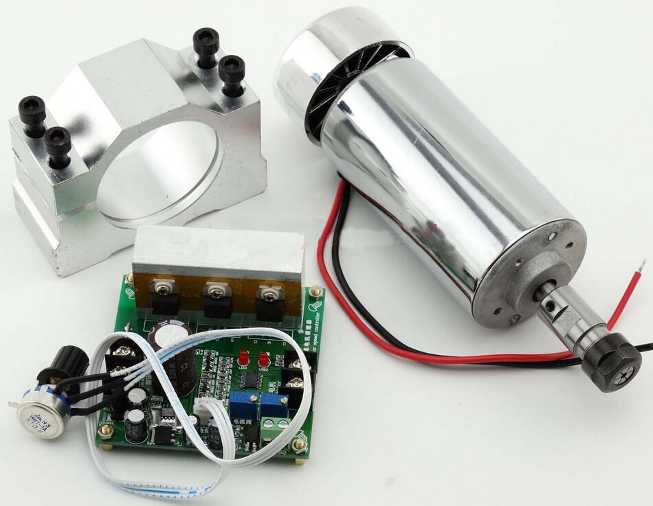 CNC 0.4KW Spindle Motor ER11 + Mach3 PWM Speed controller + Mount 3.175mm 10 50v 100a 5000w reversible dc motor speed controller pwm control soft start high quality