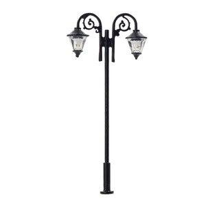 Image 3 - Luces de calle miniatura de 65mm, luces LED de poste de lámpara, miniatura, doble cabezal, blanco cálido, LYM61, 5 uds.
