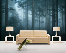 beibehang Custom wallpaper 3D living room bedroom nature Early morning forest TV background walls mural wallpaper for walls 3 d цена