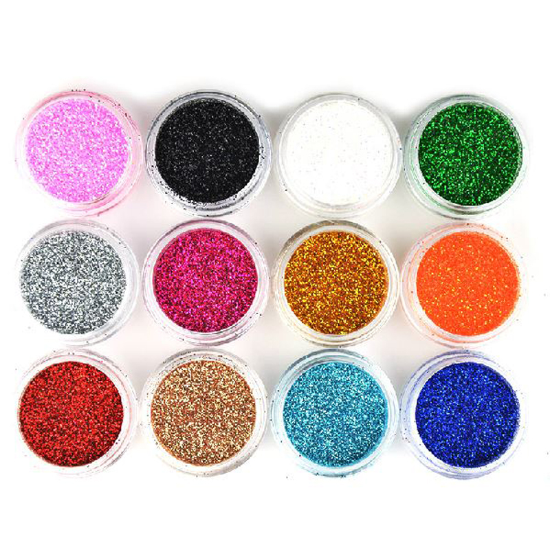 10 Pieces Pro Luminous Glitter Eyeshadow Eye Shadow Gold Silver White Black Red Green Blue Yellow Pink Purple M522-10pc Good Companions For Children As Well As Adults Eye Shadow