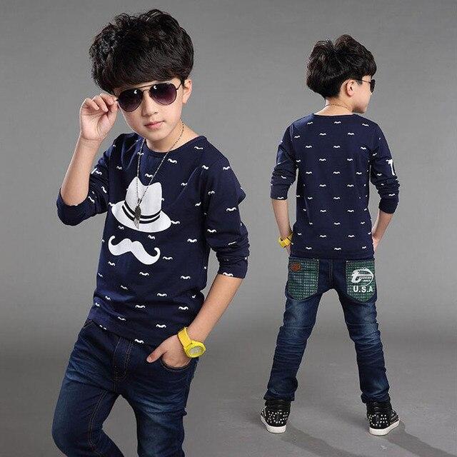 852ed9421 € 8.58 10% de DESCUENTO|2019 moda Primavera otoño niños camisetas para  niños camisetas de manga larga talla 4T 12 ropa para niños tops camisetas  ...