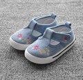 Bebé zapatos de las muchachas de la flor linda zapatos de lona primeros caminante del niño del bebé suave zapatos niñas zapatos cómodos prewalkers