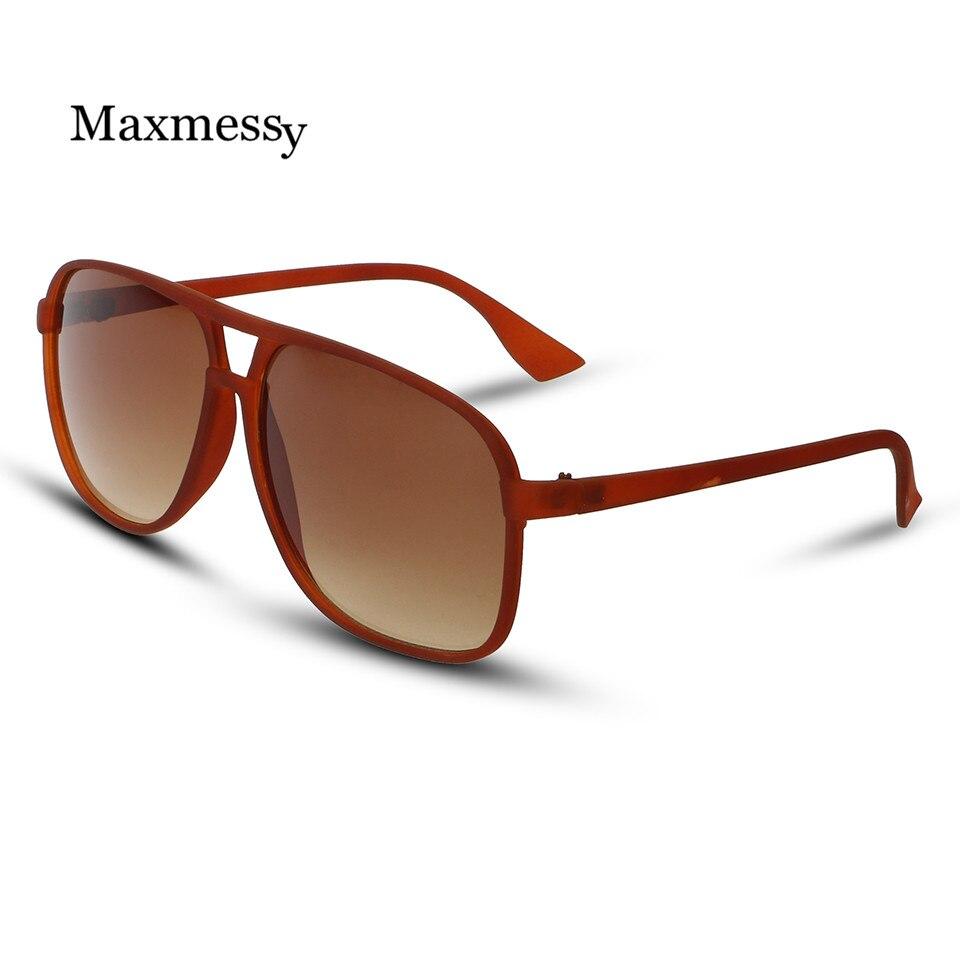 Black Frame Glasses Trend : New Men Pilot Sunglasses Square Black Frame Retro Glasses ...