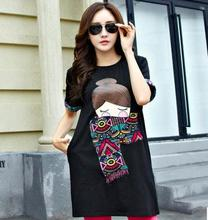 2016 summer korean maternity clothing pregant women t-shirt plus size short sleeved clothes for pregnant women SZ6318