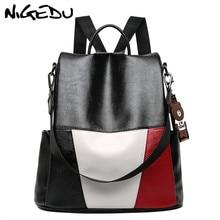 Anti theft Female Backpack School bag Teenage Girls PU Leather Luxury Women Bags Designer Bookbag Shoulders Bags travel Daypack цена в Москве и Питере
