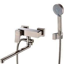 Смеситель для ванны WasserKRAFT Exter 1602L (Керамический картридж, встроенный аэратор, латунь, покрытие «светлая бронза»)