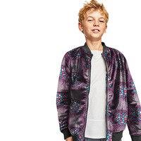 African boy's Jacket bright wax print stand collar coat dashiki baseball jackets fot children Africa clothing customized
