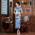Shanghai Story Long Chinese traditional 100% Nature Silk Charming Qipao Chinese Women's 2 Dress Evening Dress Cheongsam