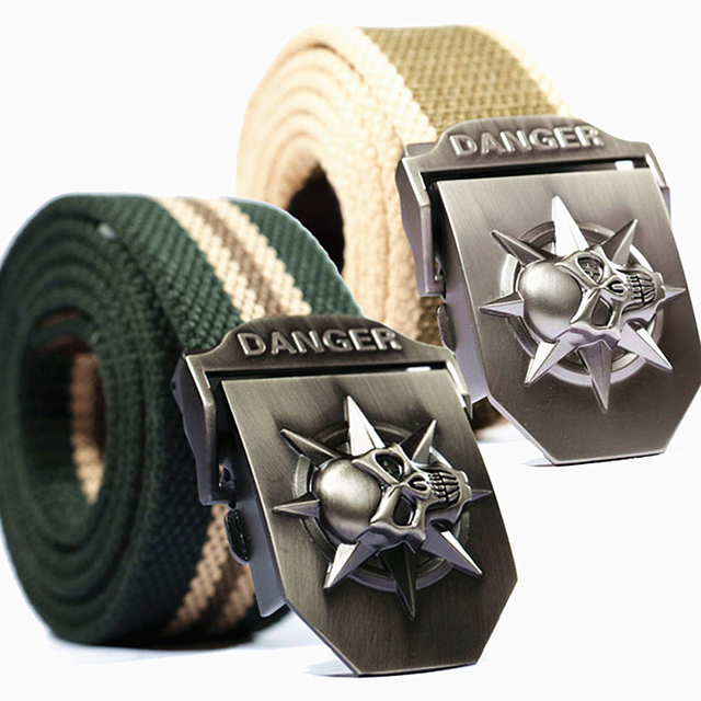 SKULL CANVAS BELT (6 VARIAN)