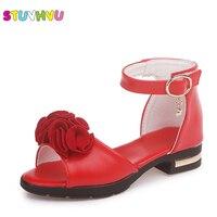 Letnie sandały dziecięce dla dziewczynek buty w kwiaty 2019 nowy ryby usta księżniczka buty małe dzieci rzymskie buty gumowe rozmiar 27  37 w Sandały od Matka i dzieci na