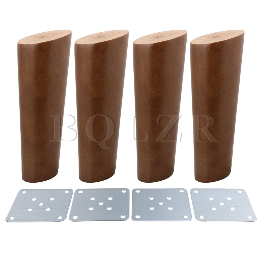 BQLZR 15cm Height Wood Color Oblique Tapered Reliable Wood Furniture Cabinets Legs Sofa Feets Pack of 4 wood wax wood furniture repair pack care packages