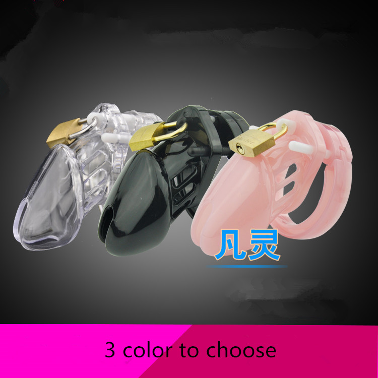 Sexshop 3 Color Male Chastity Device With 5 Size Penis Ring Cock Cage Virginity Lock Chastity Lock Cock Ring Adult Game Sex Toy