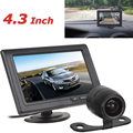 4.3 Polegada TFT a Cores LCD Car Rear View Monitor de 480x272 Auto Car Rear view Monitor + 170 graus de Backup Do Reverso Do Carro de Estacionamento câmera