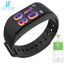 """Letike F1 Plus Colorful 0.96"""" OLED Screen Waterproof Smart Bracelet With Continuous Heart Rate Monitoring Sports Fitness tracker"""