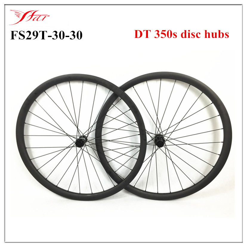 DT 350s  hubs & Sapim aero spokes with 28 holes , Far Sports carbon clincher MTB bike wheels 29er 30mm x 30mm , UD / 3K matt far sports carbon wheels 50mm clincher 23mm wide with novatec hub and sapim spokes novatec carbon wheels fsc50cm 23 700c