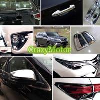 Для Toyota Fortuner 2016 2017 29 * Chrome exterior Внешний Интимные аксессуары весь комплект декоративная крышка планки