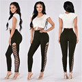 Sexy Women Skinny Long Pants High Waist Stretch leggings Slim Pencil Trousers C