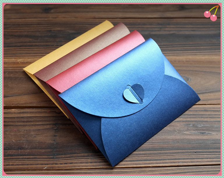 60pcs Small Size 10572cm Preal Paper DIY Colorful Envelope – Small Invitation Card