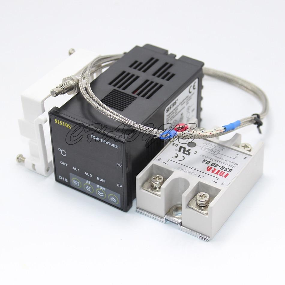 Digital PID Temperature Controller D1S-VR-220 K Thermocouple Sensor Relay [randomtext category=