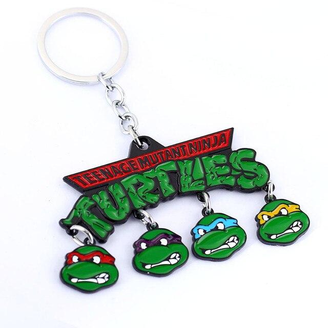 Anel keychain brinquedo TMNT teenage mutant ninja turtles set 2017 Novo Tee estatueta 1988 Leonardo Raphael TMNT neca da fonte do partido