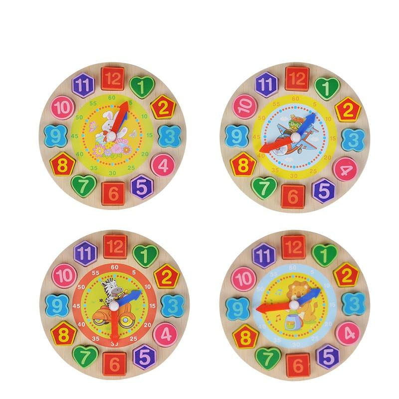 Houten Digitale Geometrie Klok Houten Blokken Speelgoed Voor Kinderen Educatief Speelgoed Brinquedos Menino Houten Speelgoed Voor Baby Jongen Meisje